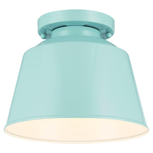 Exton 1-Light Semi Flush Mount, Blue