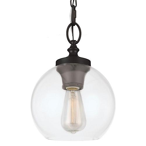 Tabby 1-Light Mini Pendant, Bronze