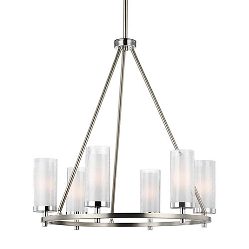 Jonah 6-Light Chandelier, Satin Nickel