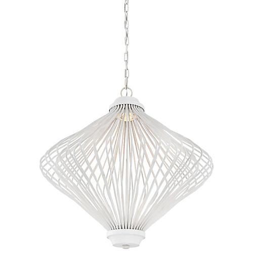 Kellen 2-Light Pendant, Plaster White