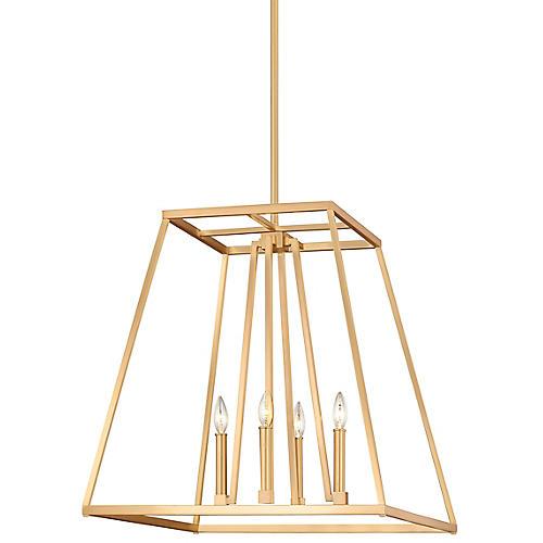 Conant Tall Pendant, Satin Brass