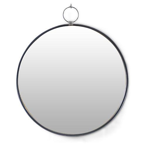 Iron Round Wall Mirror, Black