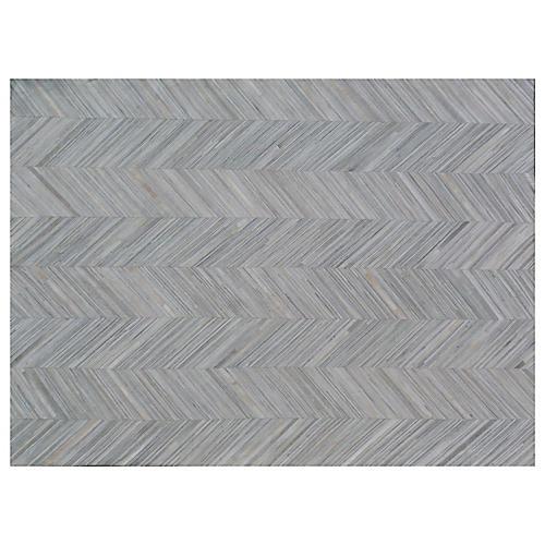 Enfield Hide Rug, Silver/Gray