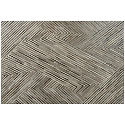 Edson Hide Rug, Gray