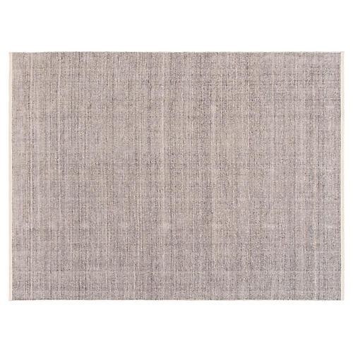 9'x12' Modern Indian Rug, Gray/White
