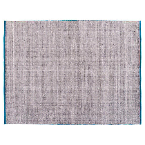 9'x12' Modern Indian Rug, Gray/Blue