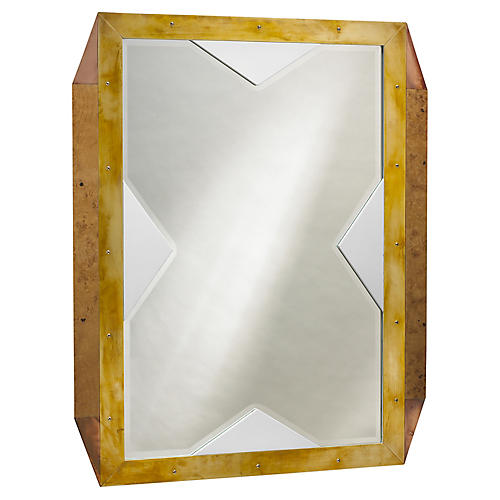 Last Word Wall Mirror, Brown
