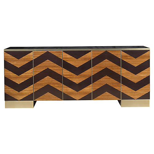 Fitzgerald Sideboard, Dark Cherry