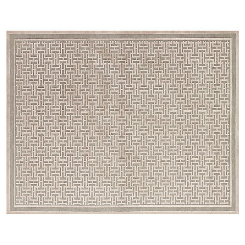 Basie Rug, Pewter/Light Gray