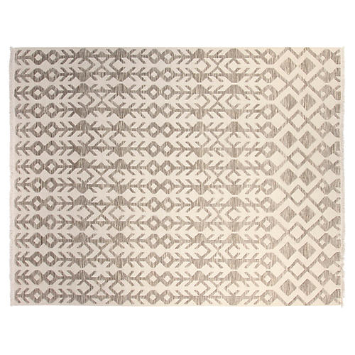 8'x10' Cavo Hand-Knotted Rug, Ivory/Gray