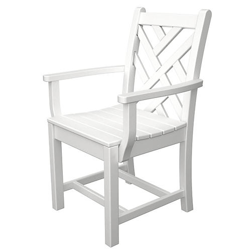 Chippendale Dining Armchair, White
