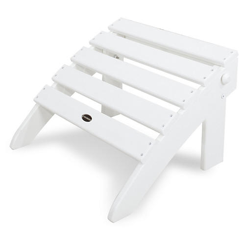 Classic Folding Ottoman, White