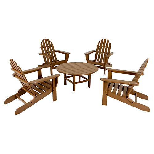 Tan Adirondack 5-Pc Conversation Set