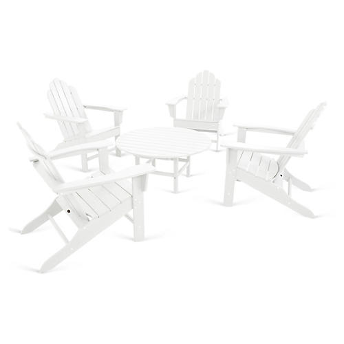 Long Island 5-Pc Adirondack Set, White
