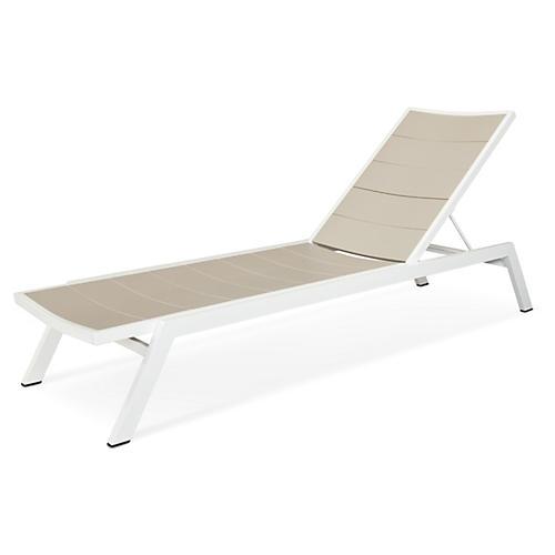 Metro Chaise, White/Sand