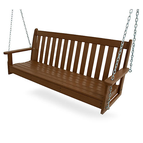 "60"" Vineyard Swing, Teak"