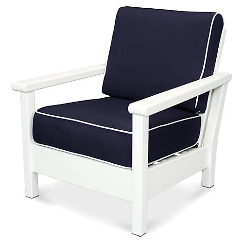 Harbour Deep-Seating Chair, Navy/Tan