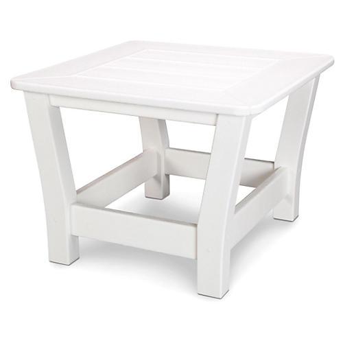 Harbour Slat Side Table, White