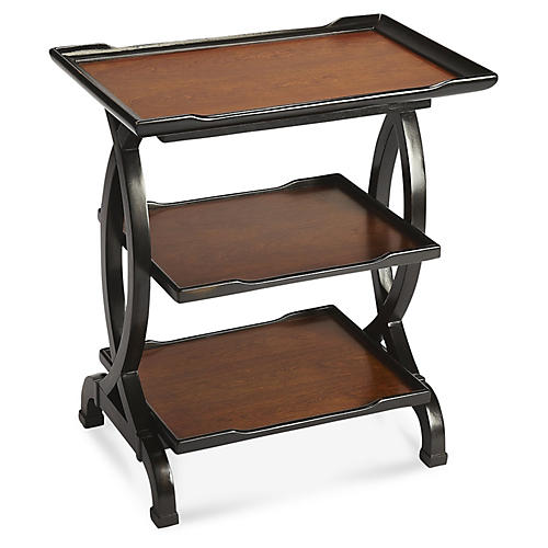 Donovan Side Table, Honey/Black