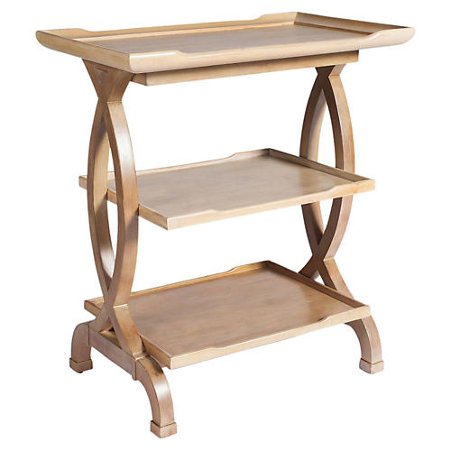 Julia 3-Shelf Side Table, Driftwood