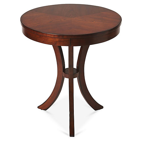 Lilly Curved Side Table, Cherry
