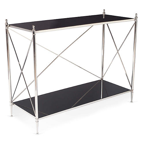 Powell Console, Black/Nickel