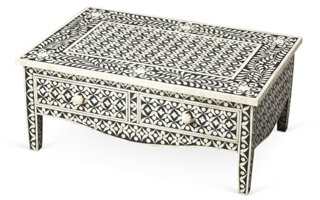 Jasmine Bone Inlay Coffee Table, Black   Coffee Tables   Living Room    Furniture | One Kings Lane