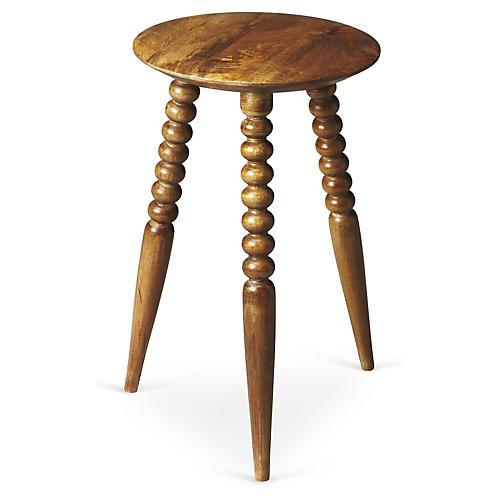 Julie Spindle Side Table, Walnut