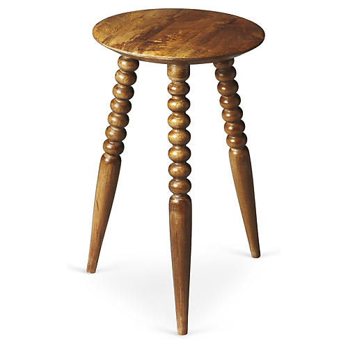 Julie Spindle Side Table, Walnut