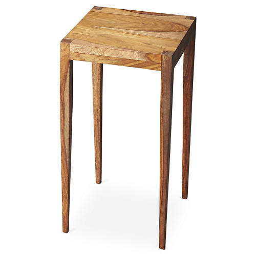 Madeline Square Side Table, Honey