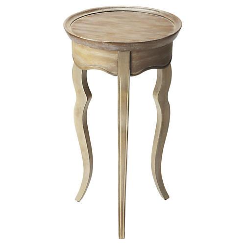 Liliha Round Side Table, Sandstone