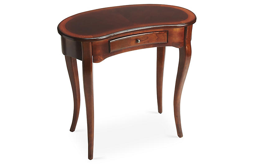 Crescent Writing Desk, Brown