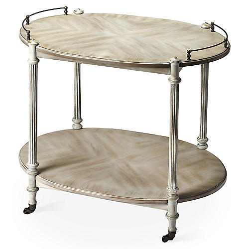 Rachel Bar Cart, Brass