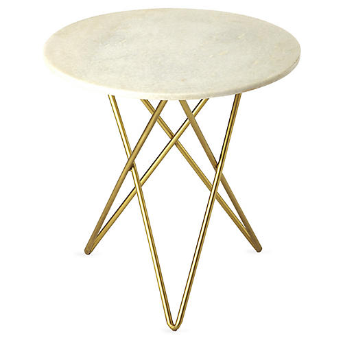 Crane Side Table, Gold