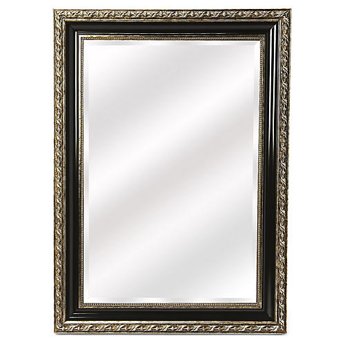 Paseo Wall Mirror, Black/Pewter