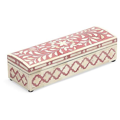 "12"" Fawn Bone-Inlay Storage Box, Natural"