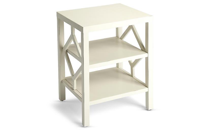 Amarilo Side Table, White
