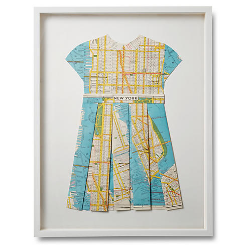 Folded Map Dress, New York