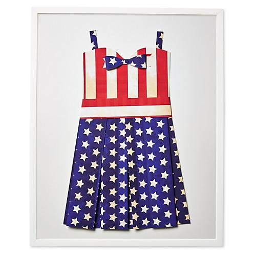 Dawn Wolfe, Flag Sundress: Vintage US