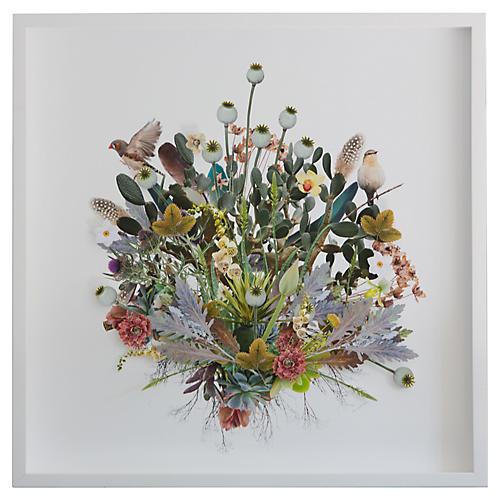 3D Plant Montage w/Birds, Dawn Wolfe