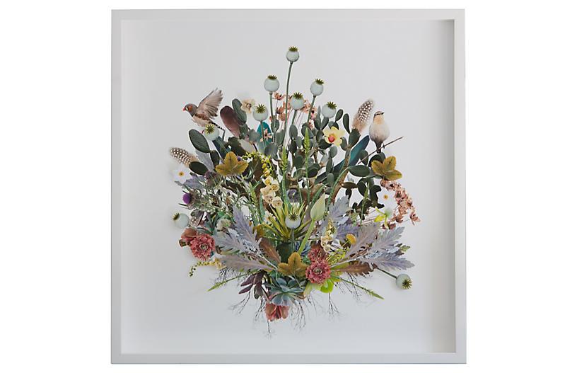 Dawn Wolfe, 3D Plant Montage w/Birds