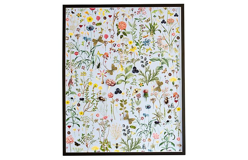 Dawn Wolfe, Dimensional Flower Pattern: Robin Blue