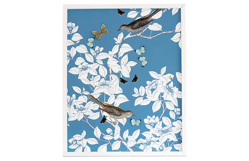 Dawn Wolfe, Dimensional Chinoiserie: Turquoise