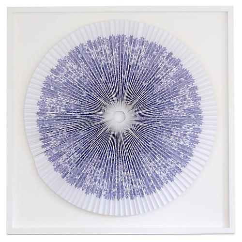 Pleated Lilac Flowers, Dawn Wolfe