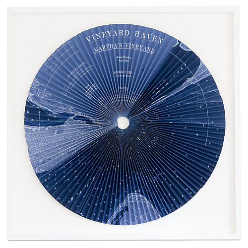 Dawn Wolfe, Pleated Map: Martha's Vineyard