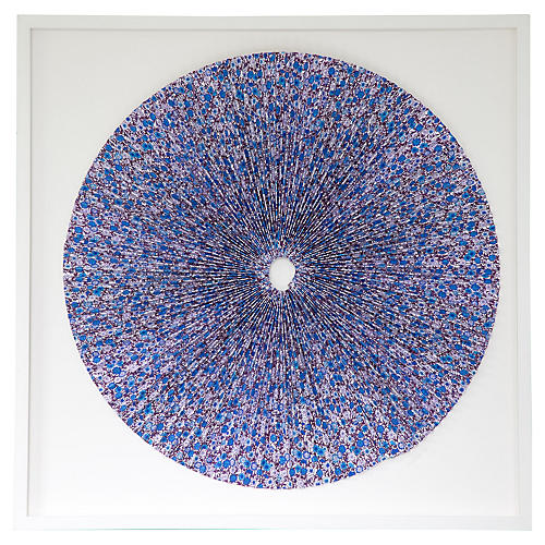Dawn Wolfe, Pleated Blue Flowers