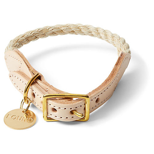 Chester Pet Collar, Light Tan
