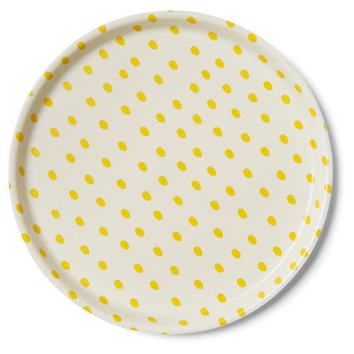 Linen Kids' Tray, Egg White