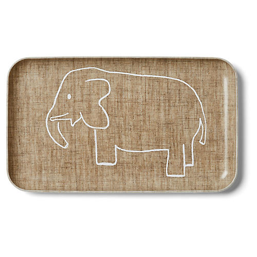 Linen Kids' Tray, Natural