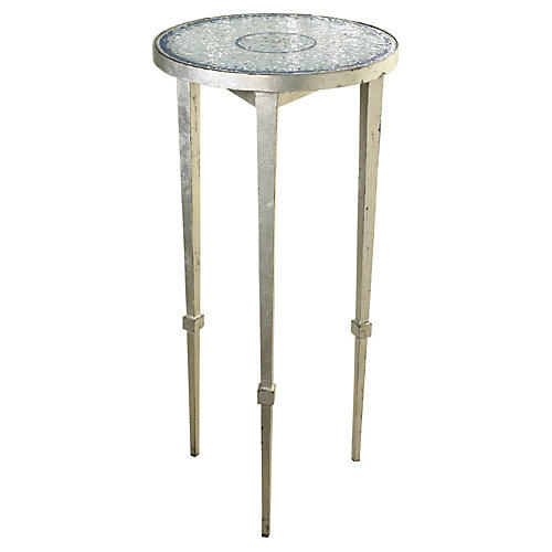 Blue & White Mosaic Side Table